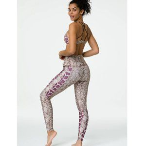NWT Onzie High Rise Graphic Leggings Viper